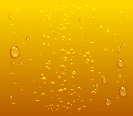 Dark beer drops and bubbles background. Vector illustration