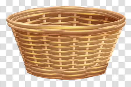 Empty wicker basket for flowers. Nest on transparent background. Isolated vector illustration 版權商用圖片 - 94526362