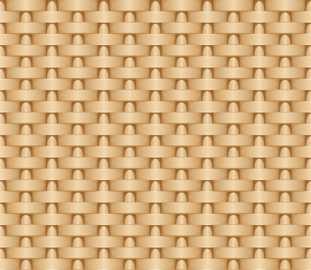 Seamless woven illustration background of straw mat. Vector pattern