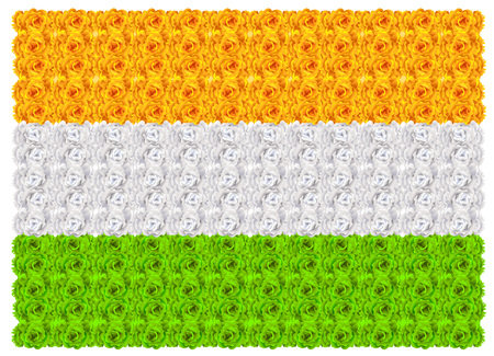 Flag of India floral background ornament mala. Vector illustration