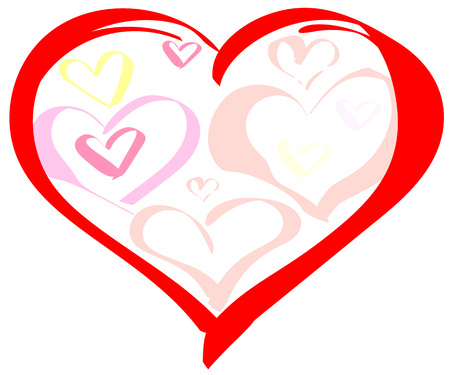 Valentines day heart symbol of love. Vector isolated. Illustration greeting card