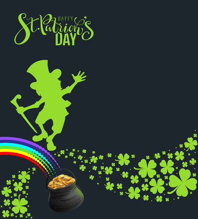 St. Patricks Day banner template poster for party. Vector illustration