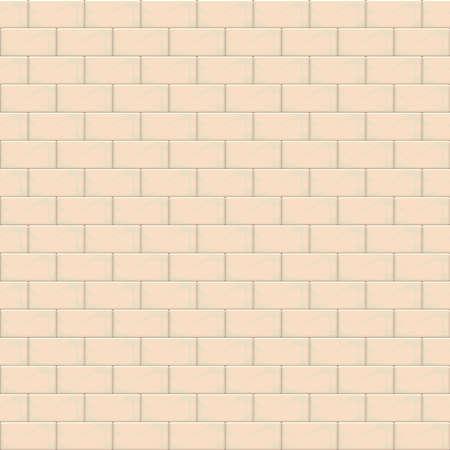 Beige brick wall seamless pattern background. Vector illustration
