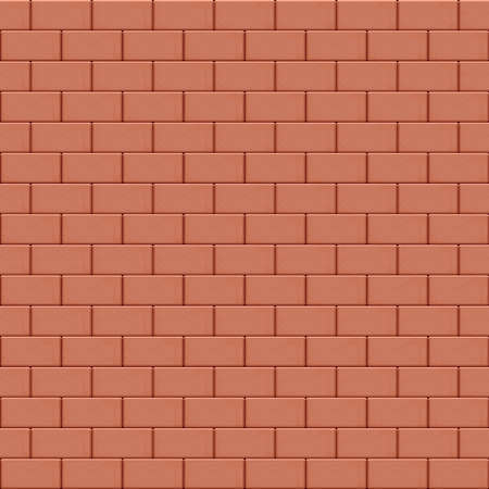 Red brown brick wall seamless background texture. Vector illustration Stock Illustratie