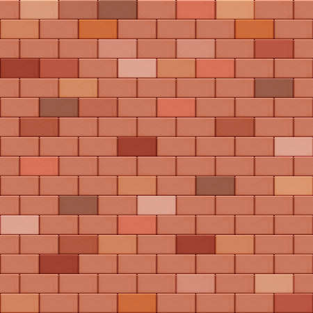 Red brick wall seamless background. Pattern decoration material sample vector illustration Stock Illustratie