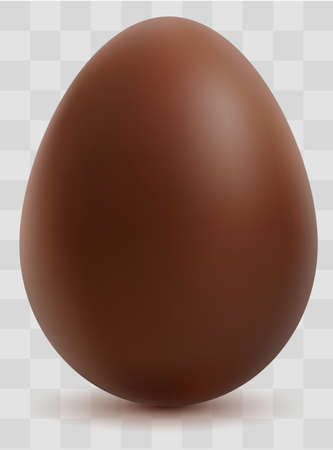 Chocolate egg on transparent background symbol Happy easter. Vector illustration Stock Illustratie