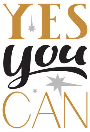 Yes you can motivation text for mirror. Vector illustration