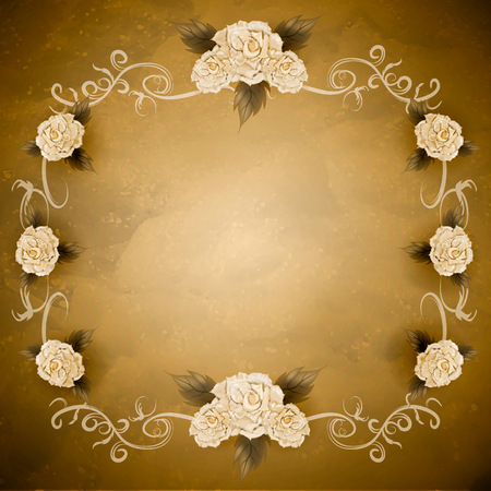 Vintage background with roses.
