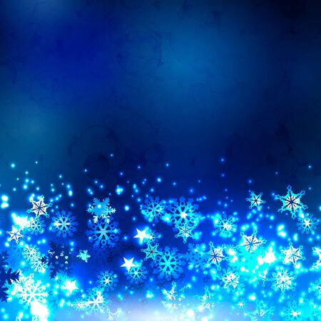 dcor: Abstract winter background. Snowflakes on a dark background