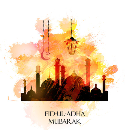 Vector holiday illustration Eid Al Adha Illustration