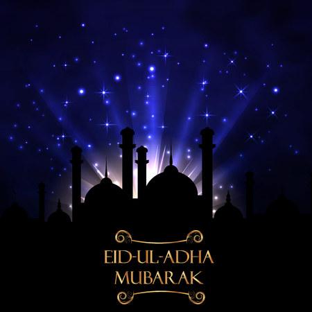 Vector holiday illustration Eid Al Adha Illustration