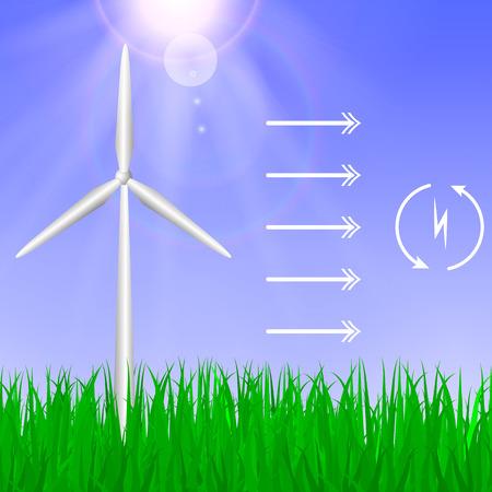 alternative energy. Green energy concept Illustration