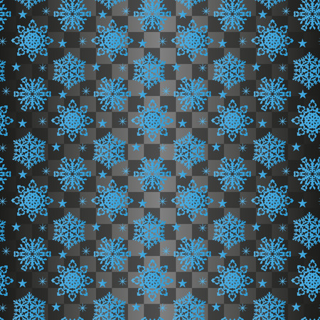 Snowflake seamless pattern on a transparent background. Иллюстрация