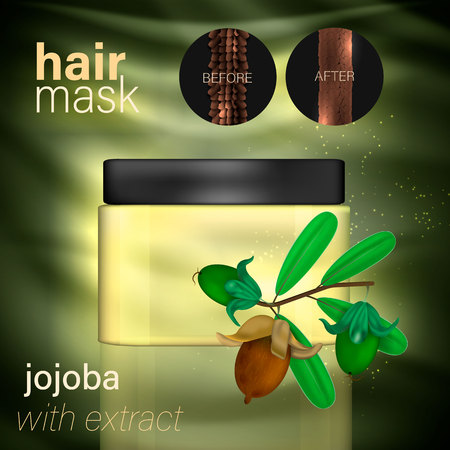hair mask with jojoba extract. Vecto
