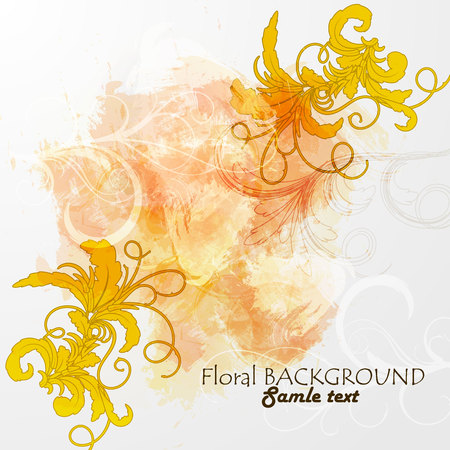 Ornamental floral background. Vector