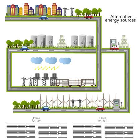 energia rinnovabile. icona di fonti di energia alternative. Concetto ecologico. Vecto