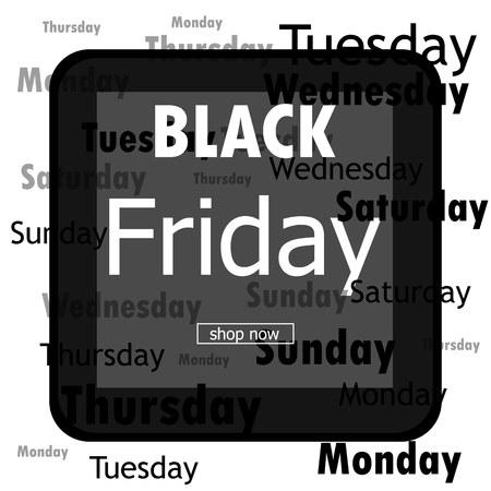 Black friday banner. Vector