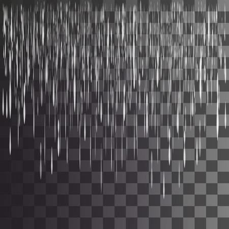 rain on a transparent background Ilustração