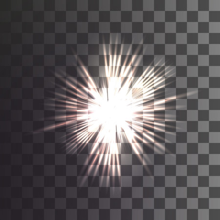 Christmas star on a transparent background. Vector