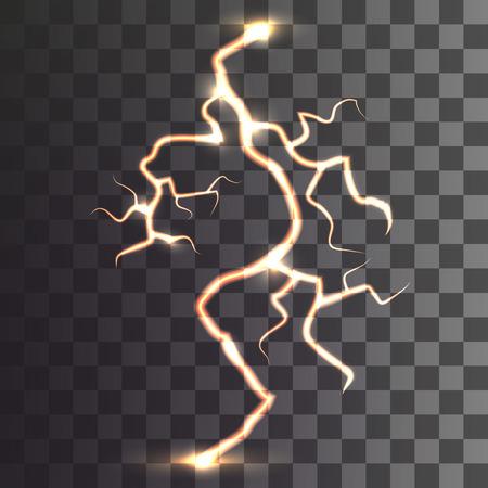 lightning on a transparent background. Vector Ilustração