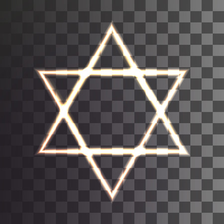 star of David on a transparent background. Vector illustration Stock Vector - 115885051