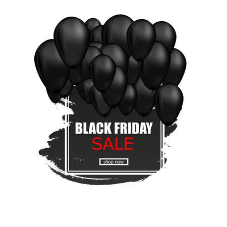 Black Friday Sale Poster . Vector illustration