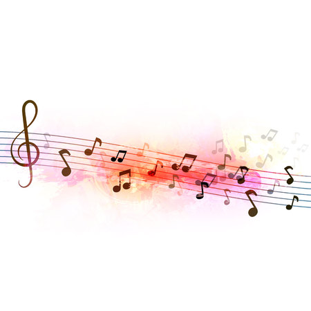 musical concept. Abstract background. Vector