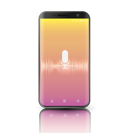 voice activated personal assistants on a smartphone. Vector
