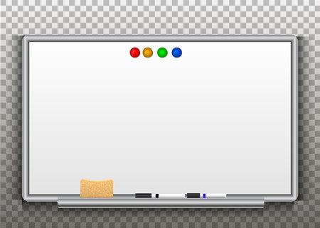 whiteboards isolated on a transparent background. Vector Ilustração