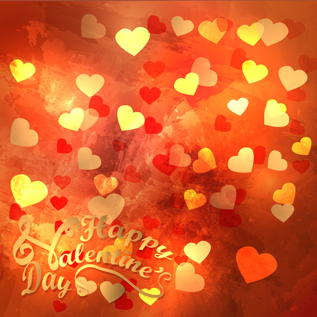 vector background with hearts, Valentines Day, poster, card, banner
