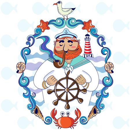 Vectoe illustration of Sea Captain