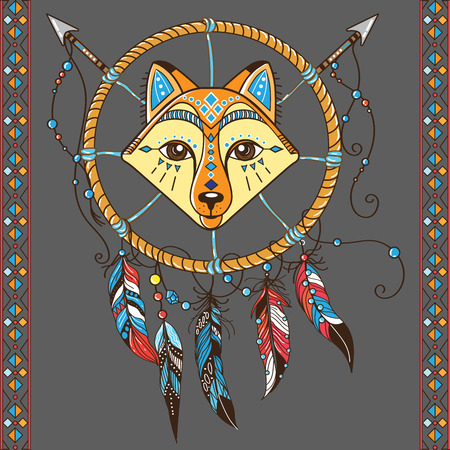 Dream Catcher With Fox Boho Style Totem Animal Royalty Free Magnificent Animal Dream Catchers