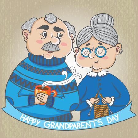Happy Grandparents Day. vector illustration. Happy grandparents