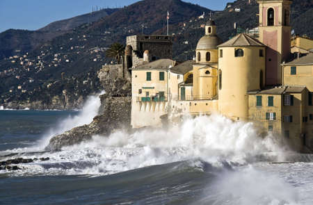 Beautiful village Ligure Camogli tourism destination photo