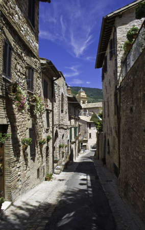 umbria: Spello beautiful medieval town in Umbria Italy