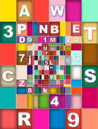 Color Number Letter photo