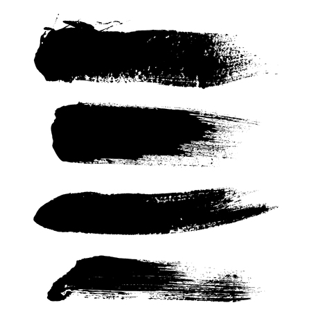 Hight quality vector set of hand drawn brush strokes, stains for backdrops.  Ilustração