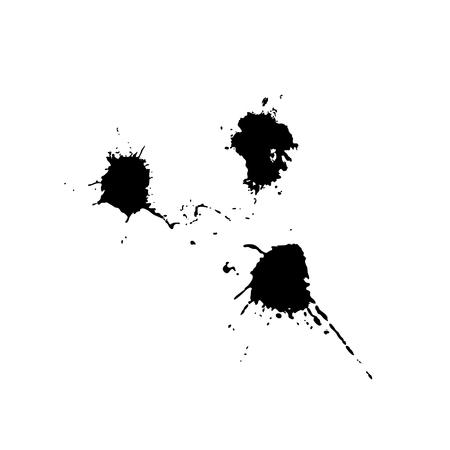 Vector set of black drops