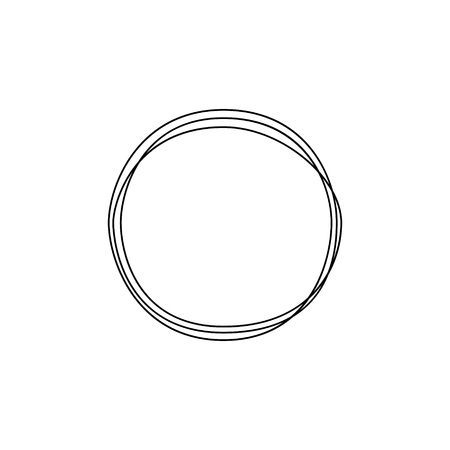 Continuous line circle. Minimalism art. Vector illustration.