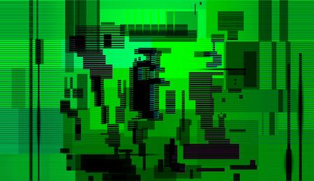 Fondo abstracto de falla, error de pantalla de computadora, diseño abstracto de ruido de píxeles digitales, papel tapiz de grunge de problema técnico. Ilustración vectorial Ilustración de vector