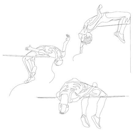 Continuous one line high jumper set.