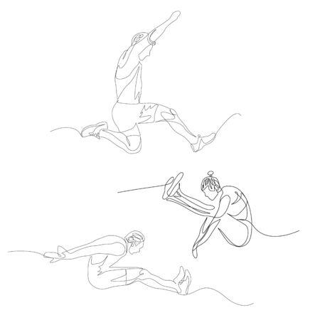 Continuous one line long jumper set.