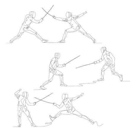 Continuous one line fencer set.