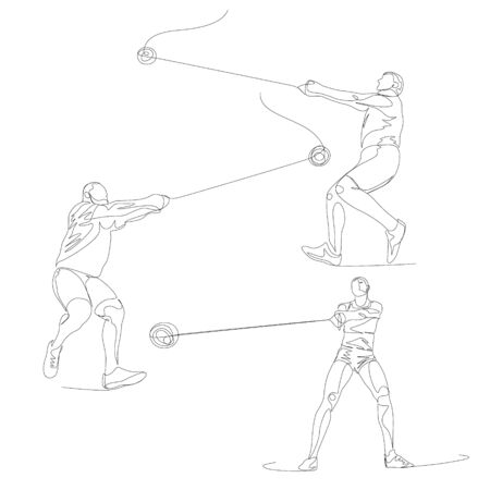 Continuous one line hummer thrower set.