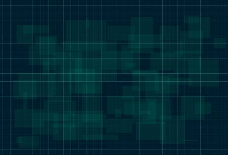 HUD dark green background with thin grid and dots. Design for science theme, artifical intelligence, neural network and hi-tech. Vector illustration.  イラスト・ベクター素材