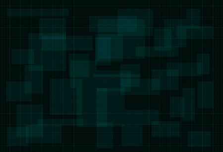 HUD dark green background with thin grid. Design for science theme, artifical intelligence, neural network and hi-tech. Vector illustration.  イラスト・ベクター素材