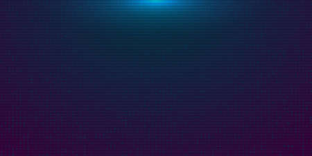 Futuristic blue purple gradient digital background. Backdrop in a cyberpunk style with Glow from above. Design for banner, web, poster, brochure, flyer and card. Vector illustration.