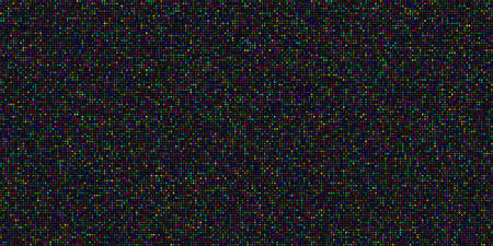 Big data visualization. Abstract data background of a large number of multicolored particles on a black background. Science, technology theme. Vector illustration. 矢量图像