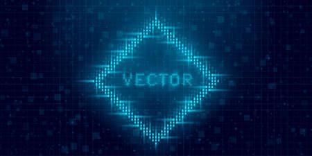 Futuristic cyberpunk glitch rhombus. Standard-Bild - 157742900