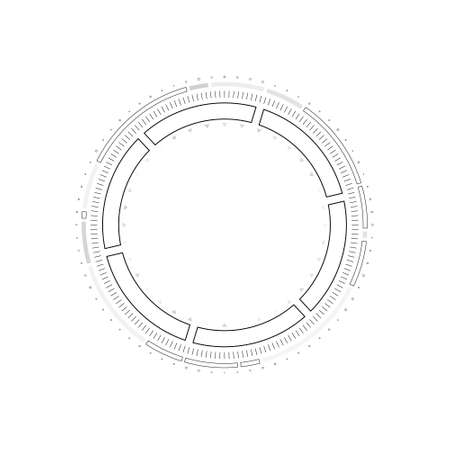 HUD circle infographic elements. Sci-fi round head-up display for futuristic user interface HUD, GUI. Tech and science theme. Vector illustration. Illustration